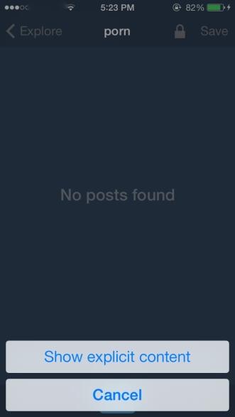 """""""Show Explicit Content?"""" Tumblr's updated iOS app"""