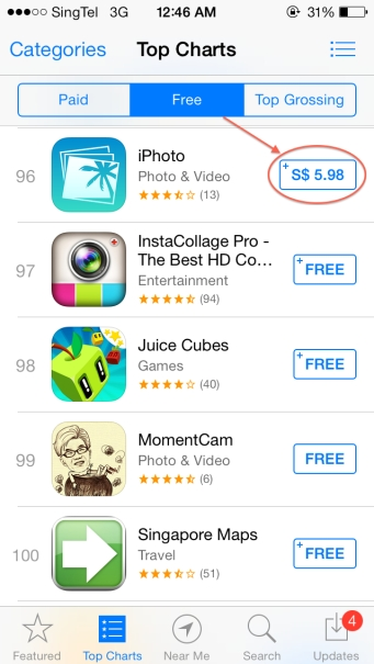Apple App Store Screw Up
