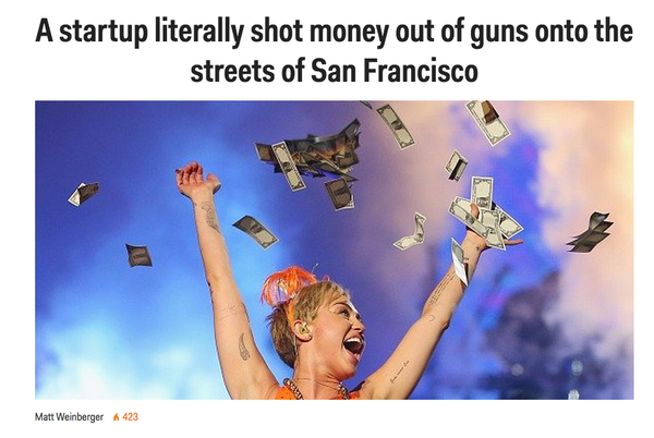 startup shot money out of gun 1999